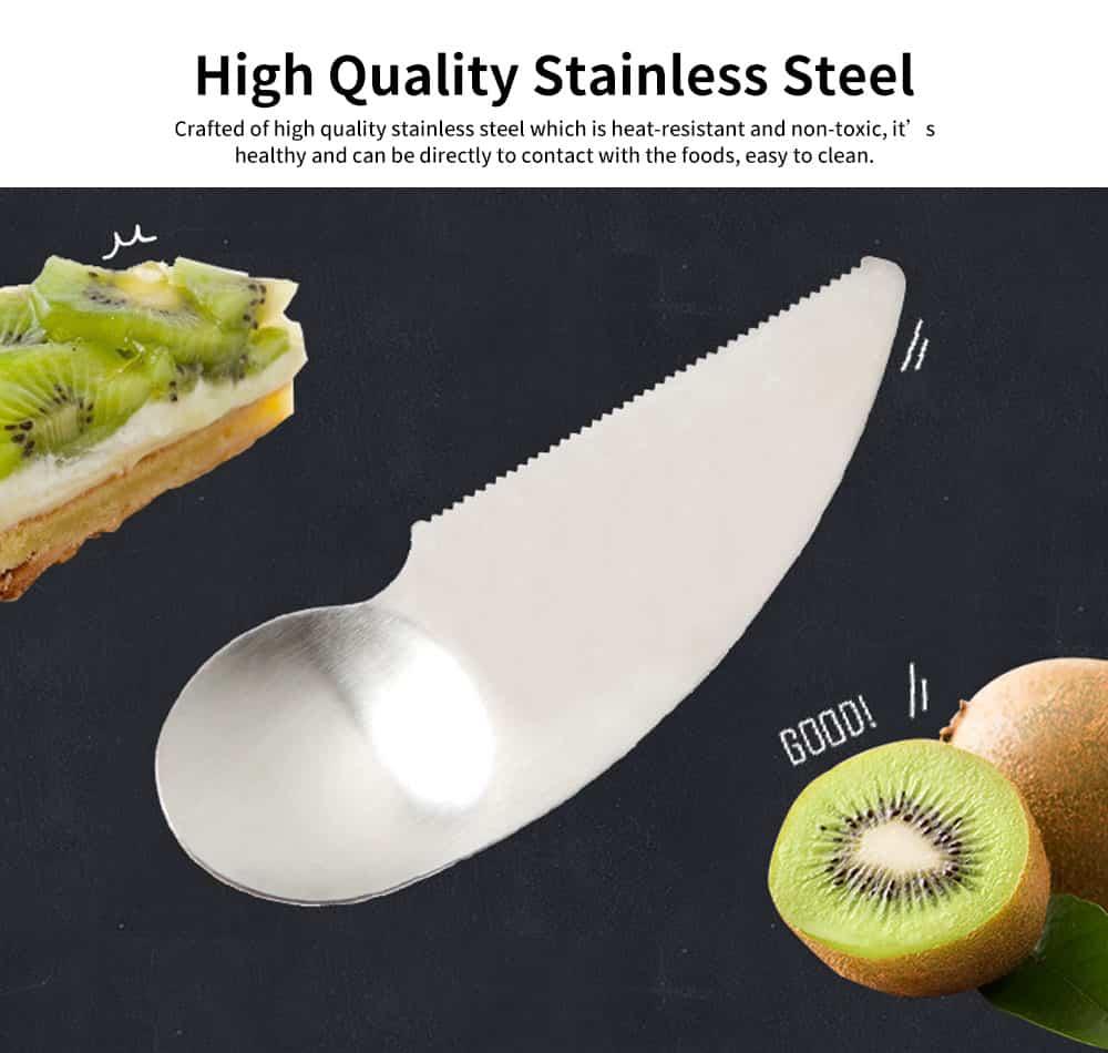 2 in 1 Peeler Cutter Knife, Stainless Steel Fruit Pulp Spoon Knife Peeler 1
