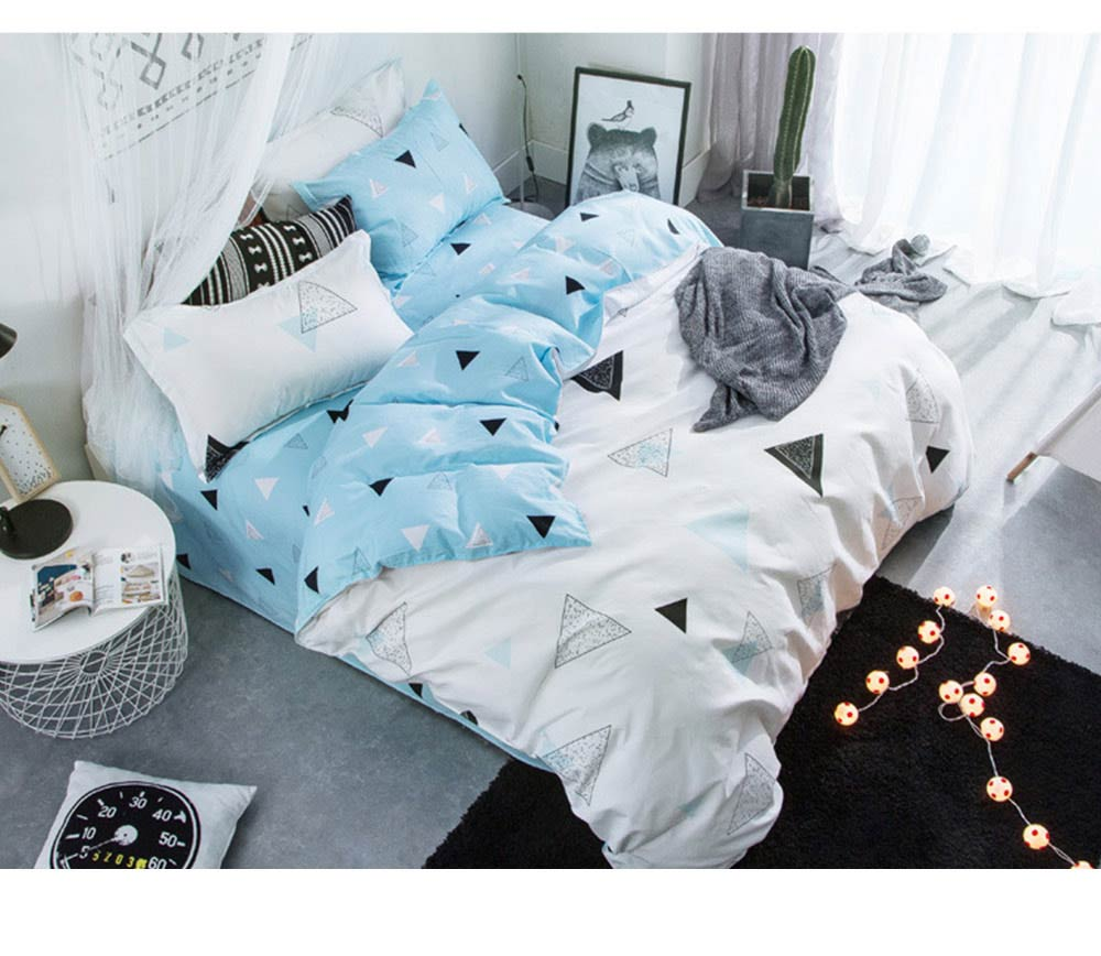 Simple Style Quilt Cover Sheet Pillowcase Bedding Set 4 Pieces 11