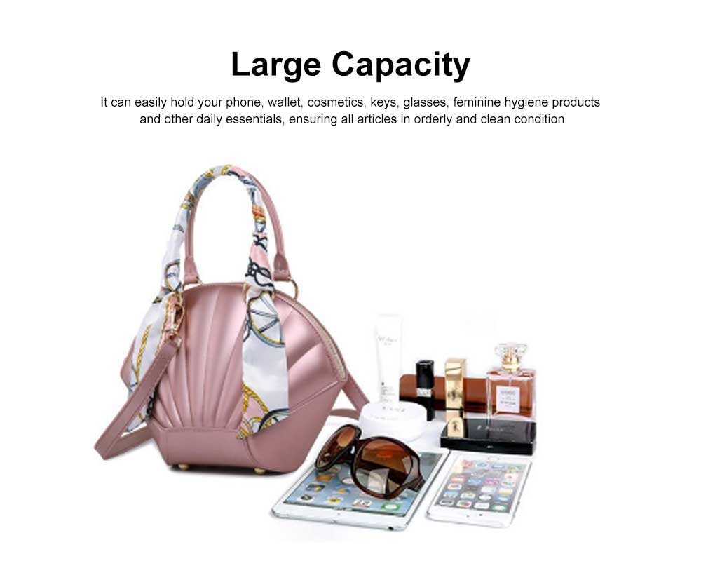 Shell Shaped Jelly Middle Bag, One Shoulder Slanting Matte Zipper Handbag For Ladies 3