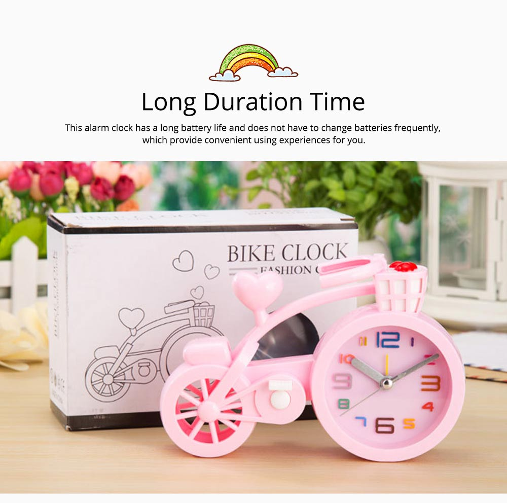 Creative Table Bike Model Alarm Clock, Stylish Minimalist Bicycle Clock 5