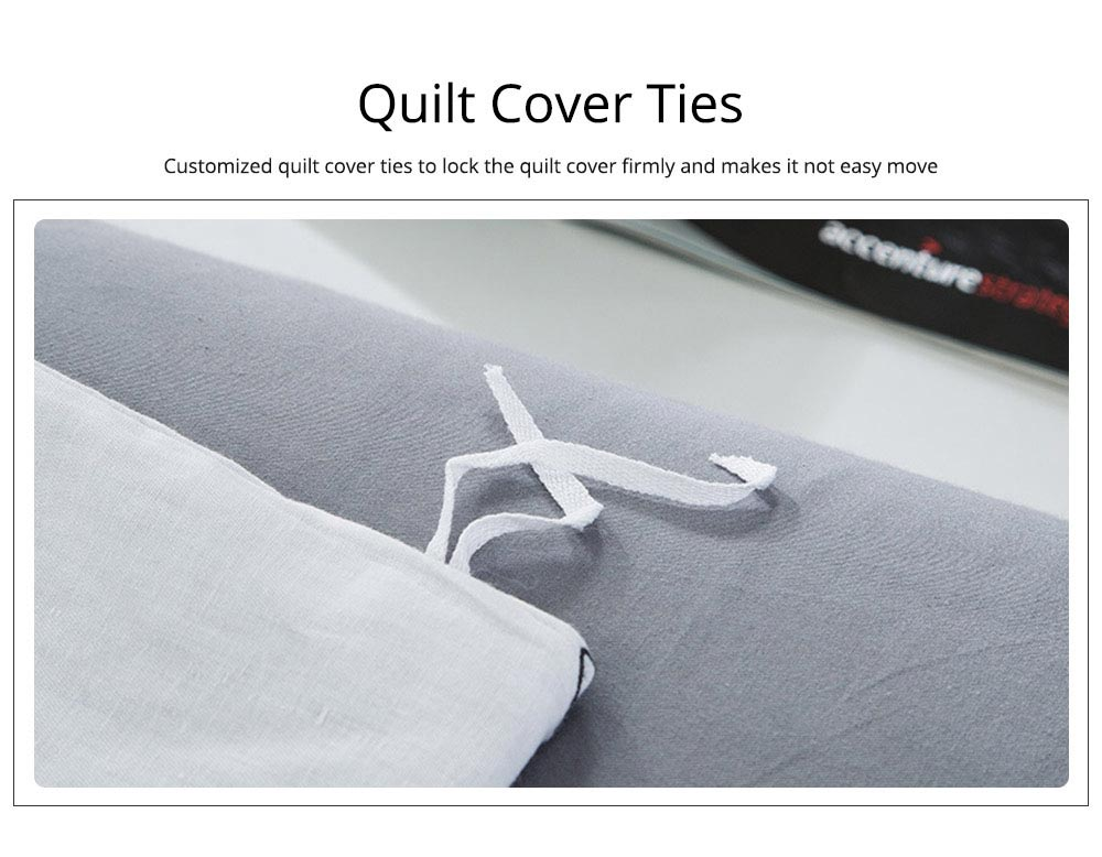 Simple Style Quilt Cover Sheet Pillowcase Bedding Set 4 Pieces 13