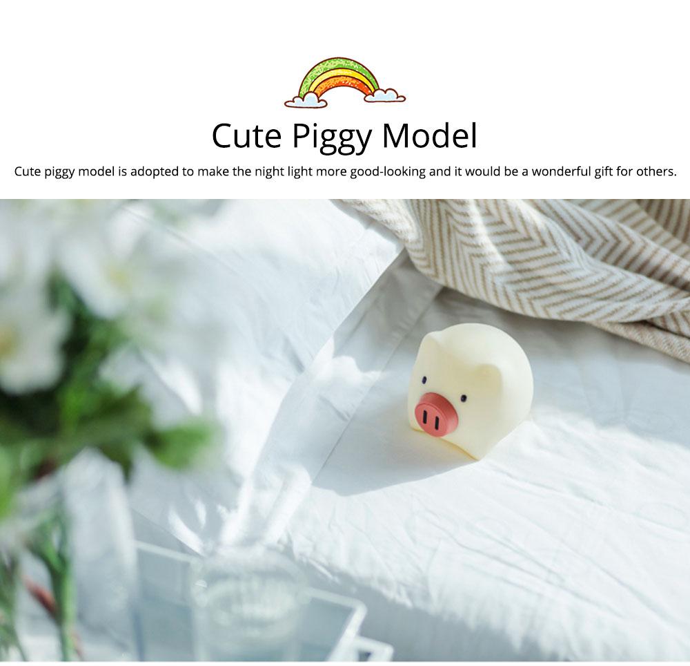Pig Night Light, Ultrasoft Skin-friendly Silicone Piggy Light Present For Girls or Child 6