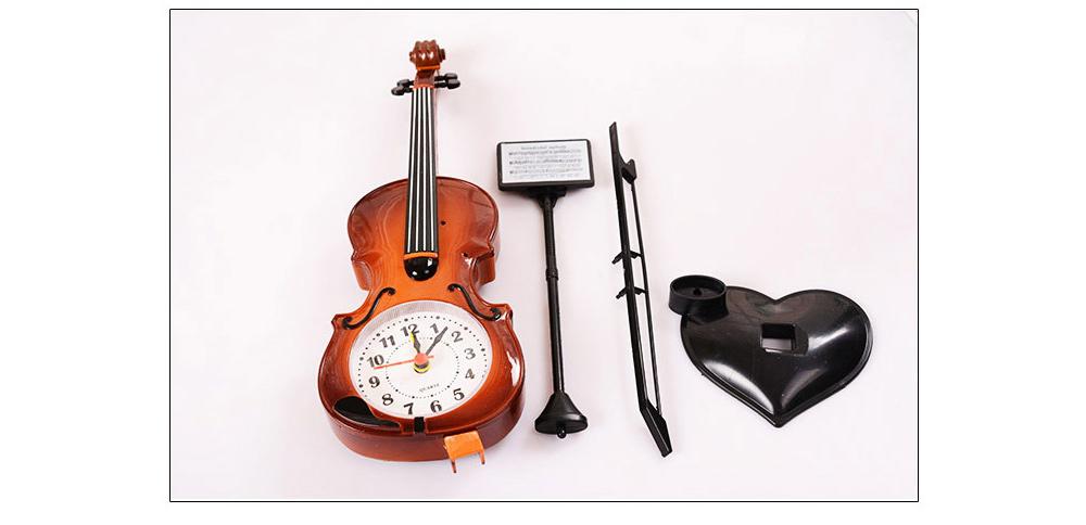 Creative Cello Table Clock, Horological Home Living Room Decoration Graduation Present 2