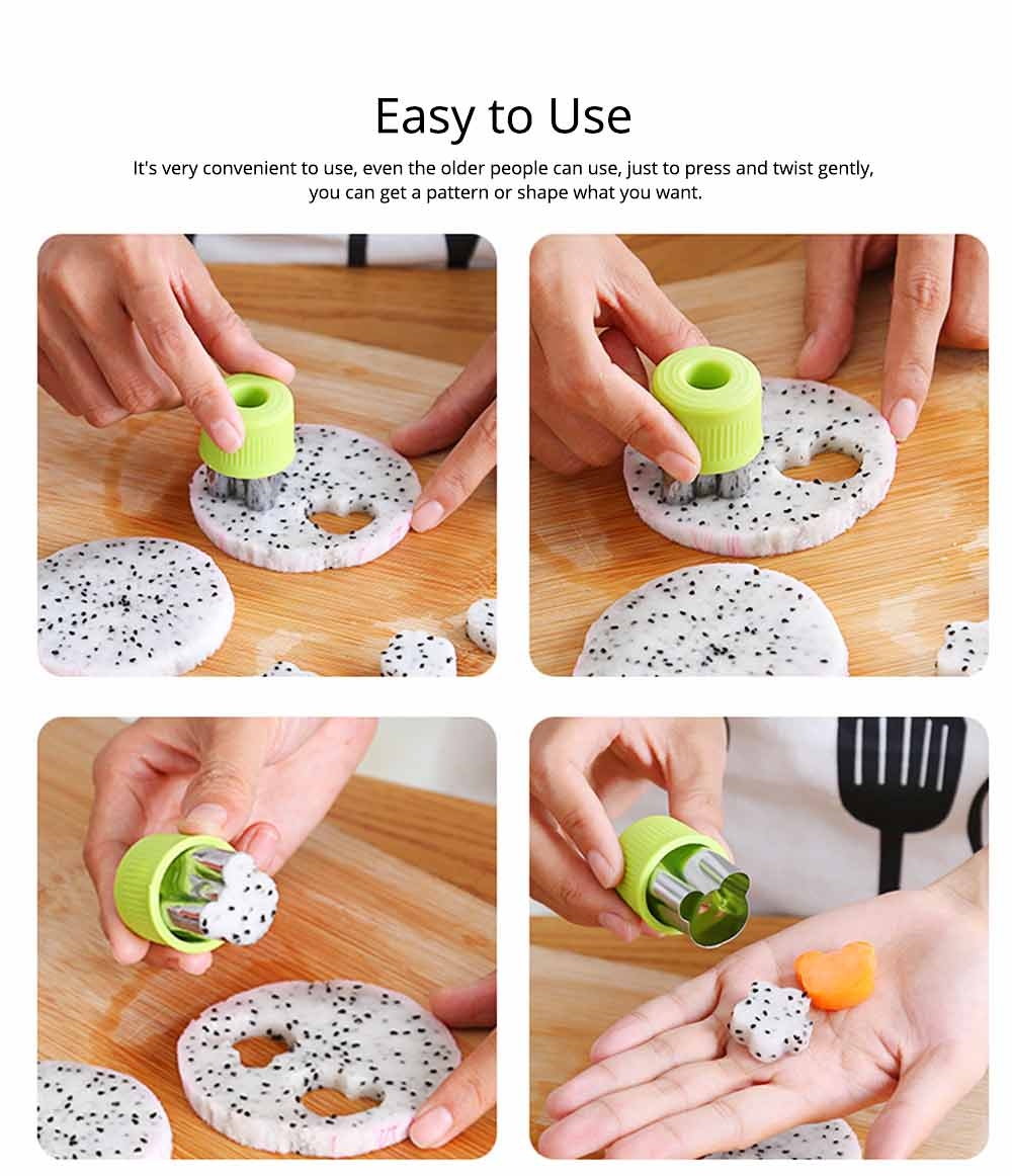 Vegetables and Fruit Shape Cutters Set, Stainless Steel Baking Cookie Mold ( 8PCS/12PCS) 5