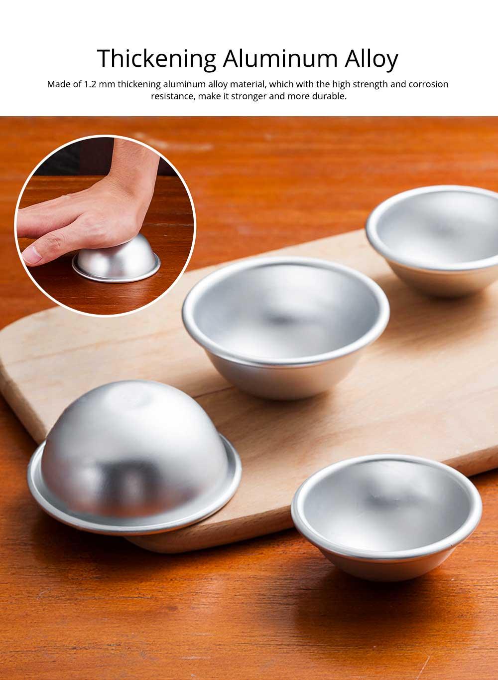 Semi Circle Pastry Mold, Aluminum Alloy DIY Bath Salt Bomb Molds 1