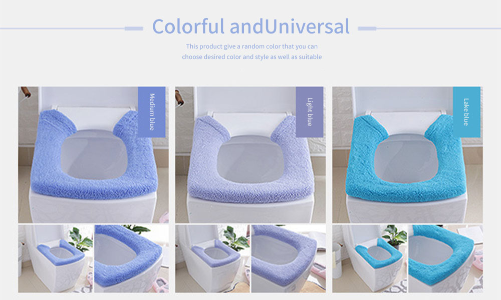Warmer, Universal, Ultra-thick Toilet Stretchable Seat Cover with Pressed Fastener and Rings 11