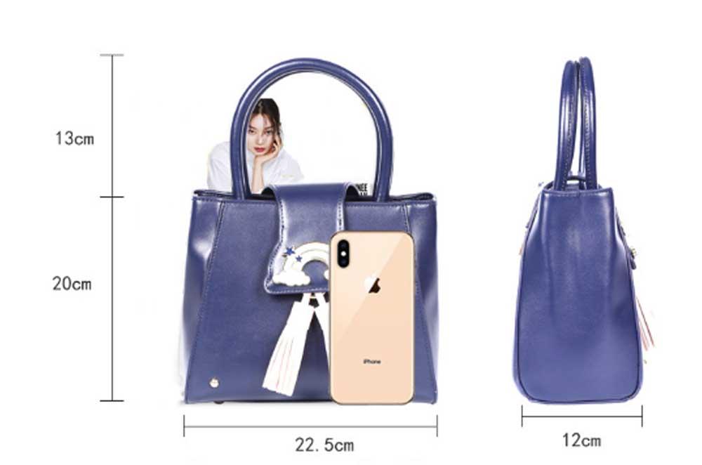 Fashion Female shoulder Bag, Dream Rainbow Decorative Handbag with Adjustable Hand Strap and Metal Zipper 6