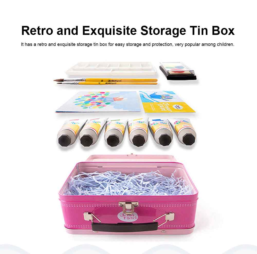 Painting Tool Box For Children, Washing Coloring Painting Material Painting Tool Suitcase 1