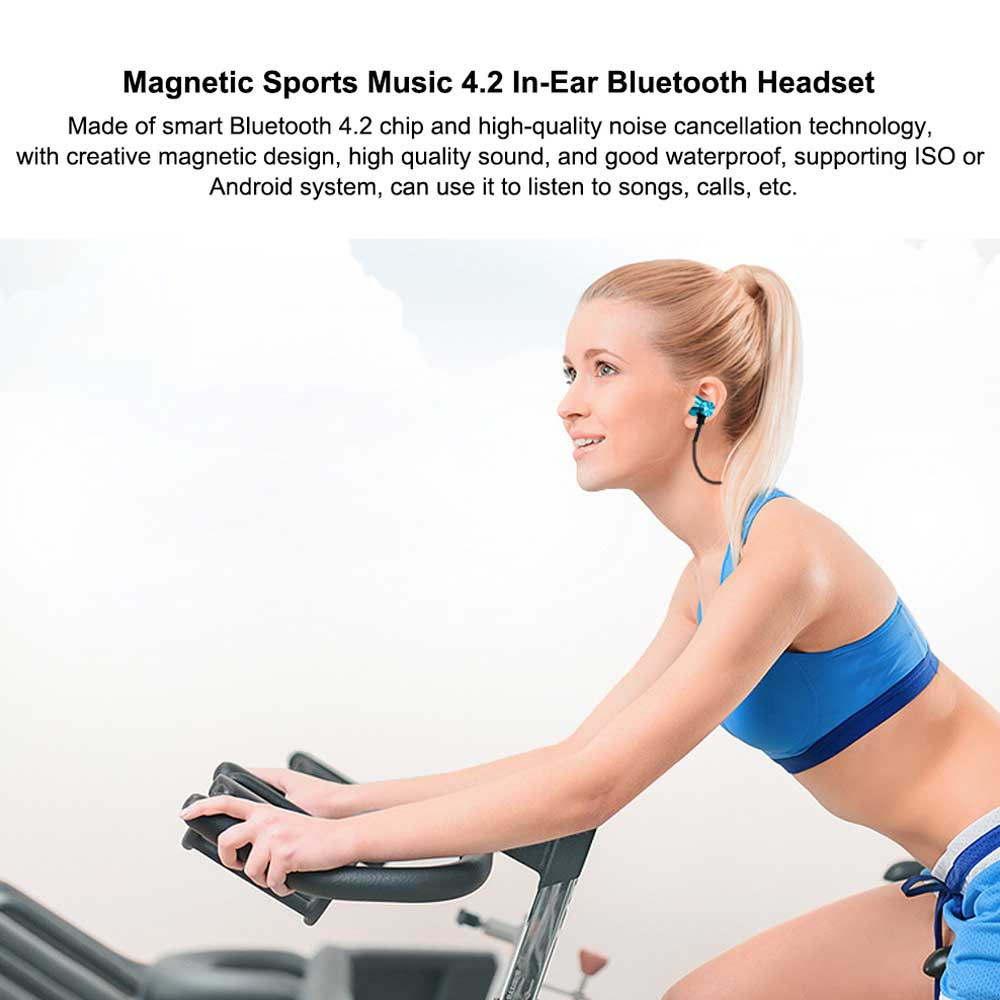 Magnetic Sports Music 4.2 In-Ear Bluetooth Headset, Neck-mounted Bluetooth Headset 0