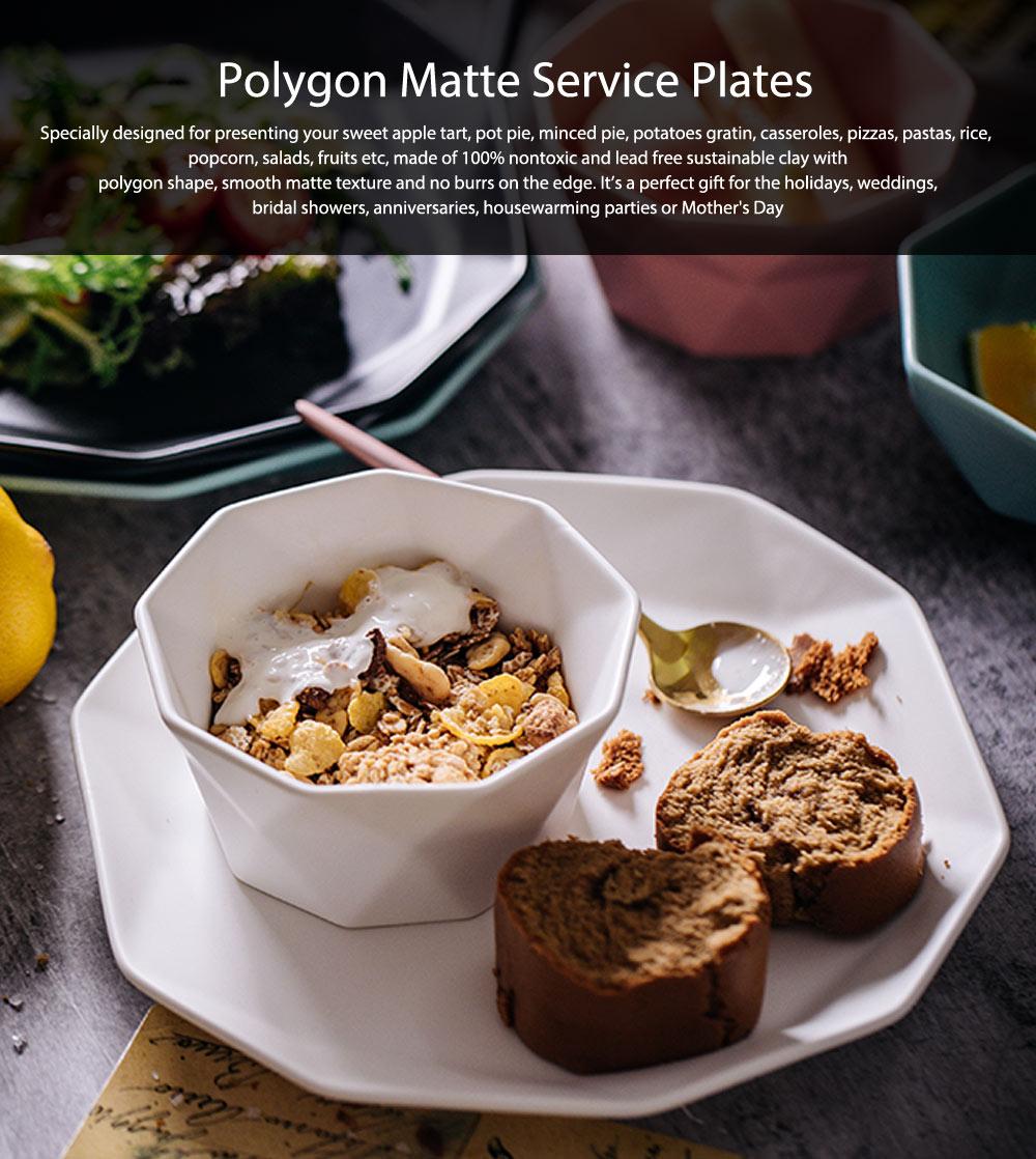 Matte Dinner Plates, Ceramic Service Dishes For Salad, Pot Pie, Pizzas, Popcorn, Fruits 0