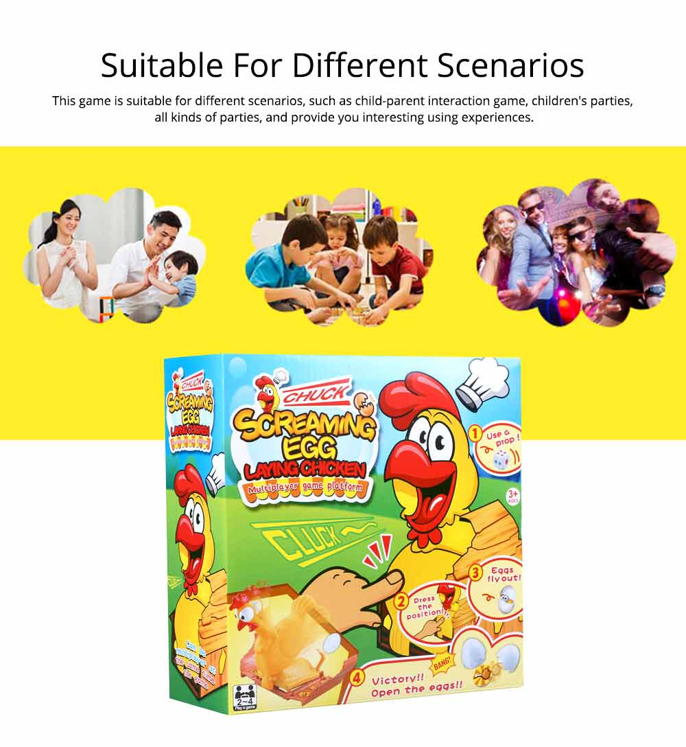 Funny Screaming Egg Laying Chicken Party Games Toy, Parent-child Puzzle Lucky Chicken Sound Toy 4