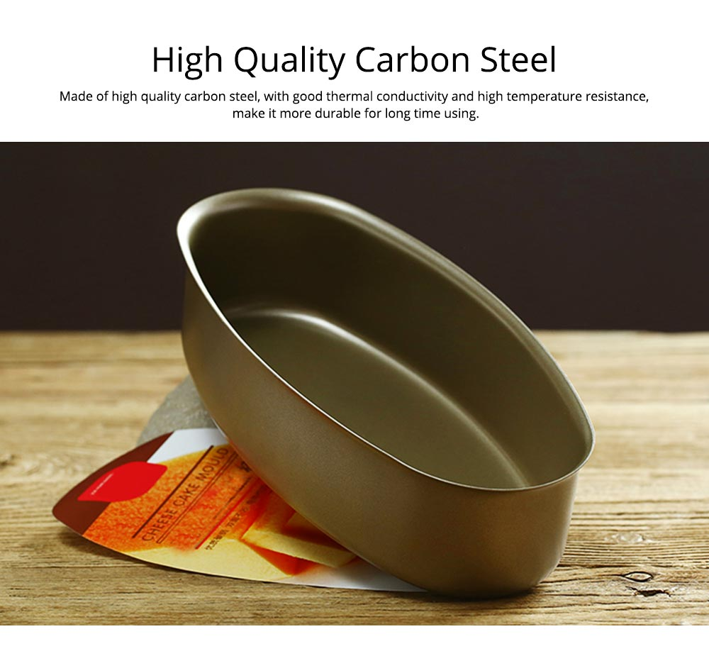 Oval Cheese Cake Mold, Non Stick Carbon Steel Cake Pan Pudding Mold Baking Tray 1