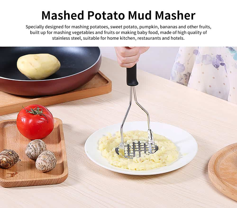 Potato Mud Pressure Machine, Stainless Steel Vegetable Masher Crusher Pressing Tools 0
