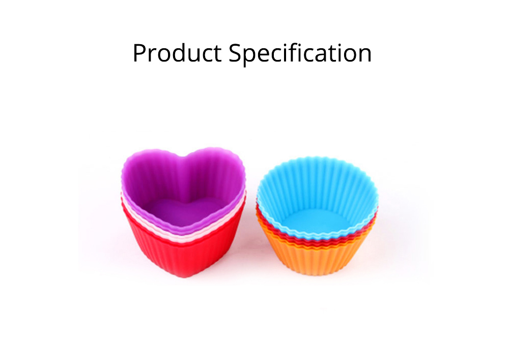 Reusable Silicone Baking Cups, Multi-colors Muffin Cup Liners, 12PCS 5