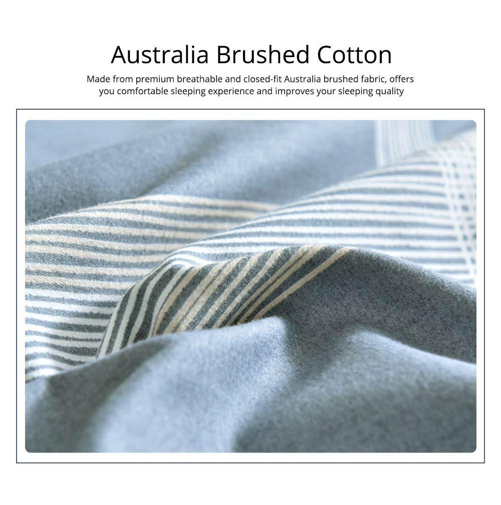 Australia Brushed Cotton Bedding Set 4 Pieces, 200*230 CM Bedding Set 1