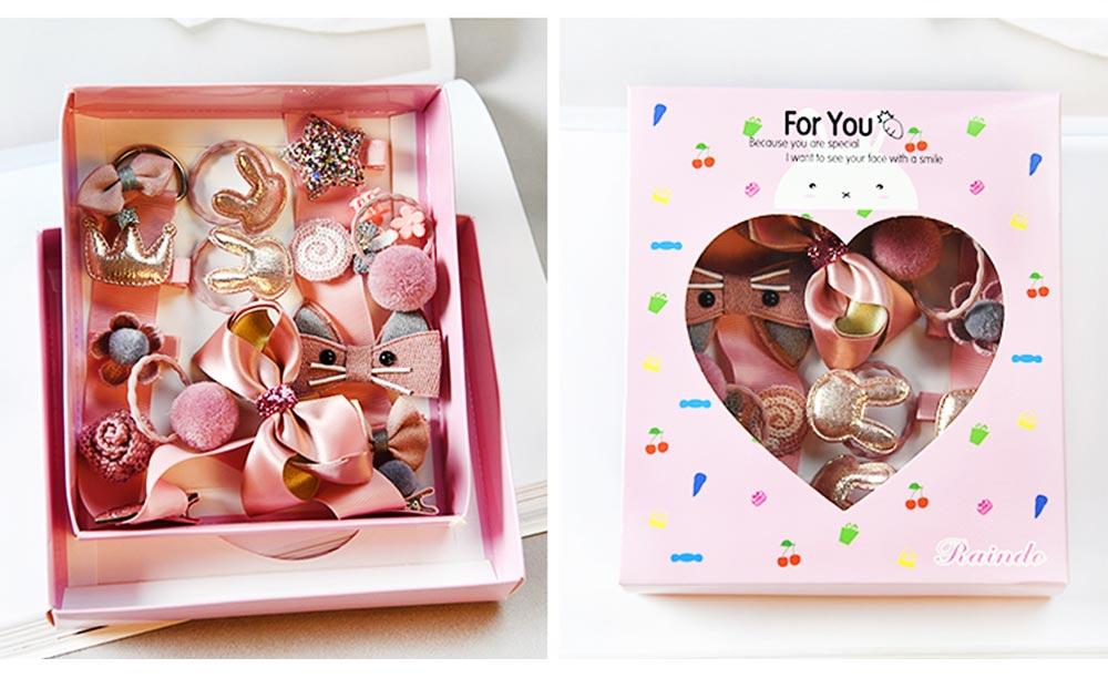 Cute Cartoon 18 PCS Hair Accessories, Hair Ornaments Barrette Birthday Gift Present Award For Girls 8