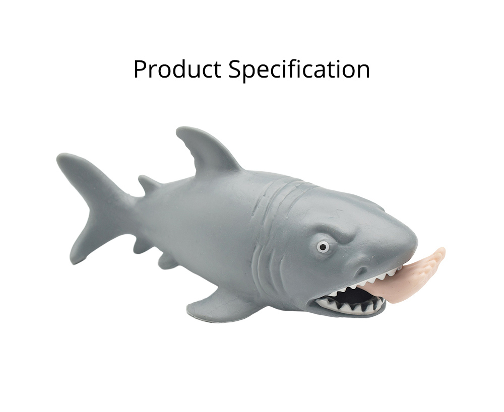 Tricky Soft Man-eating Shark Shape Squeeze Toys,  Interesting Adults Decompression Export Pinch Toys 6