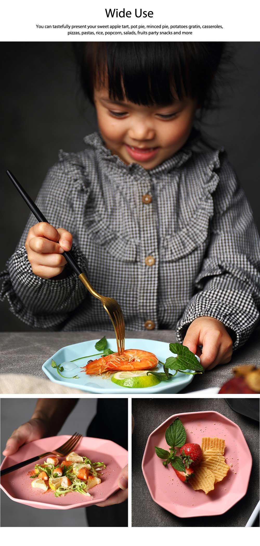 Matte Dinner Plates, Ceramic Service Dishes For Salad, Pot Pie, Pizzas, Popcorn, Fruits 4