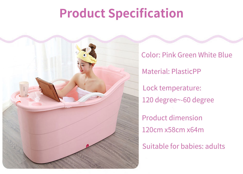 Large Collapsible Bathtub, Portable Collapsible Bathtub For Adults 2