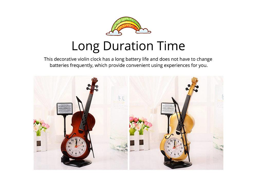 Creative Cello Table Clock, Horological Home Living Room Decoration Graduation Present 7