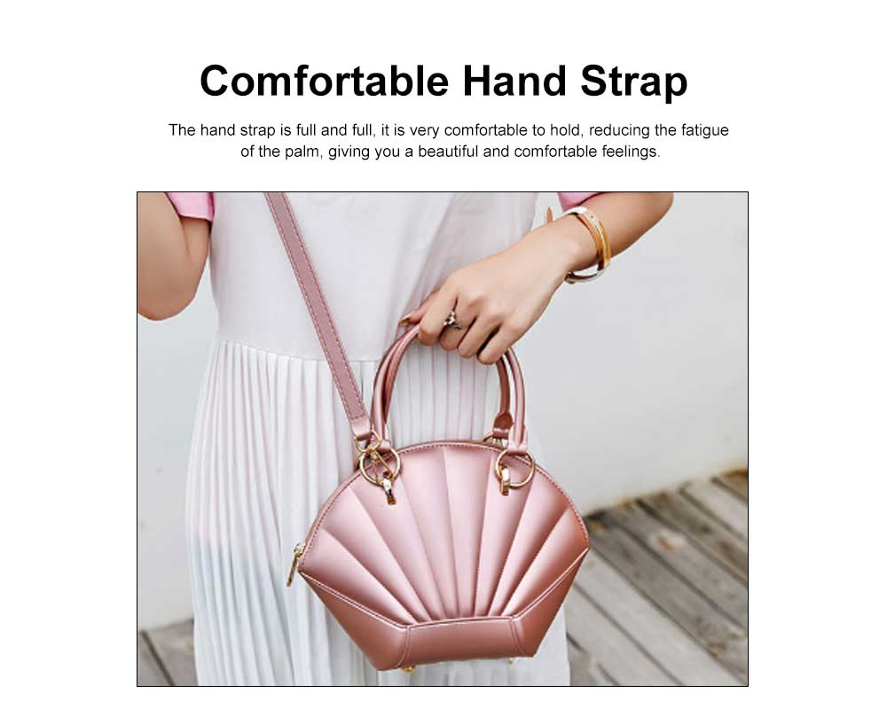 Shell Shaped Jelly Middle Bag, One Shoulder Slanting Matte Zipper Handbag For Ladies 5