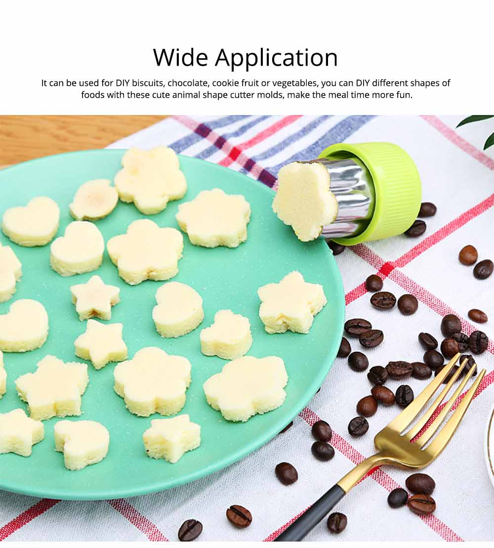 Vegetables and Fruit Shape Cutters Set, Stainless Steel Baking Cookie Mold ( 8PCS/12PCS) 6