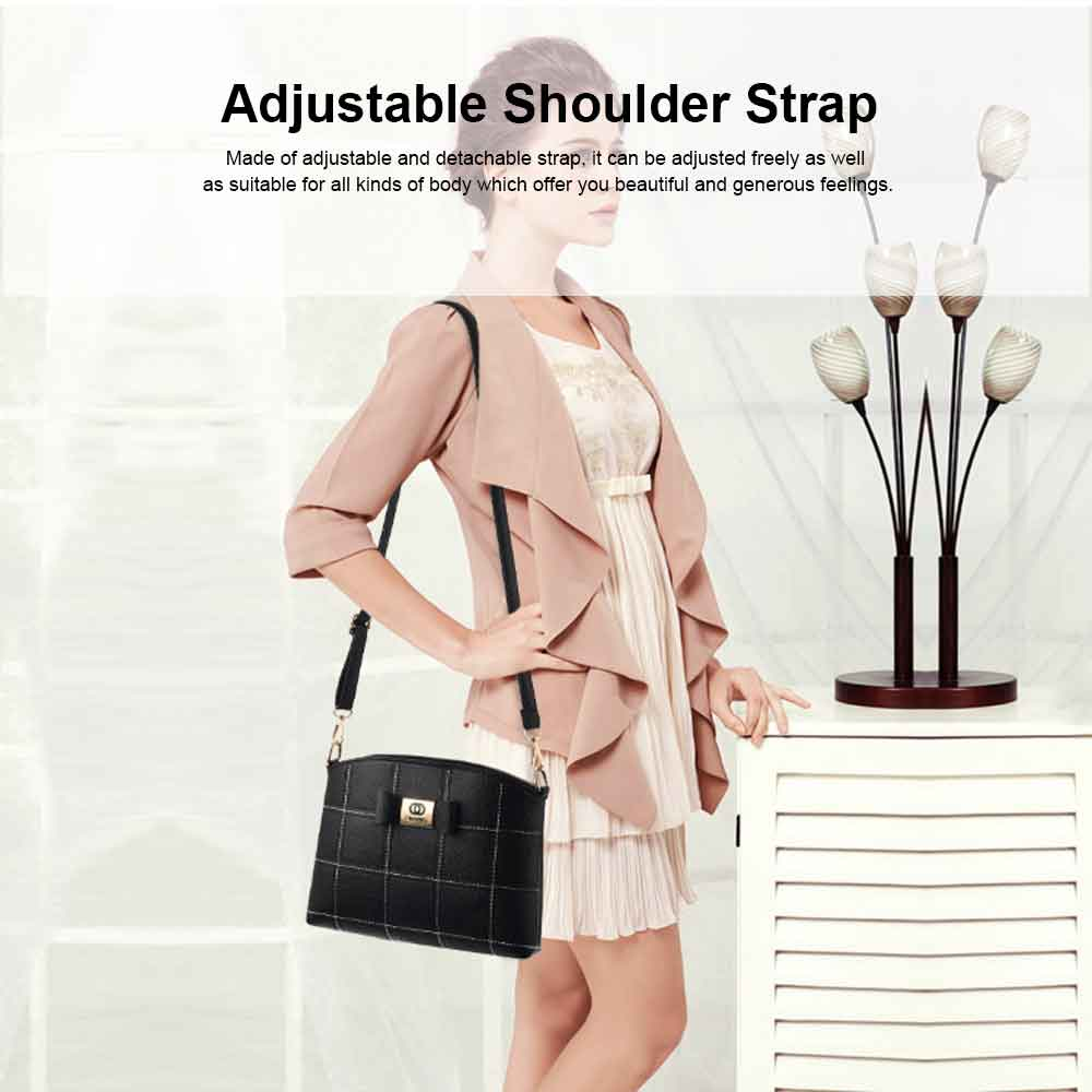 Fashion PU Leather Women's Shoulder Bag With Metal Reinforced Hand 2 Sets bags 13