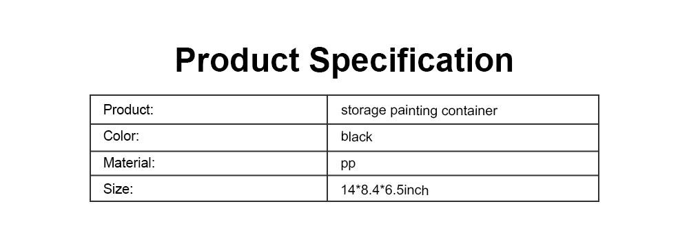High-quality Plastic Painting Storage Box, Black Storage Painting Container for Drawer 5