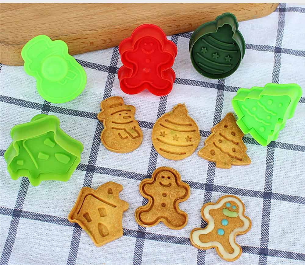 Mini Christmas Cookie Cutter Set, Stainless Steel Biscuit Mold Set 2