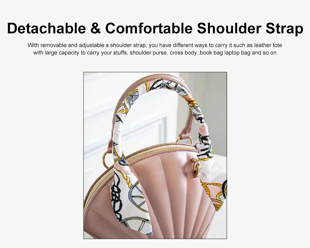 Shell Shaped Jelly Middle Bag, One Shoulder Slanting Matte Zipper Handbag For Ladies 4