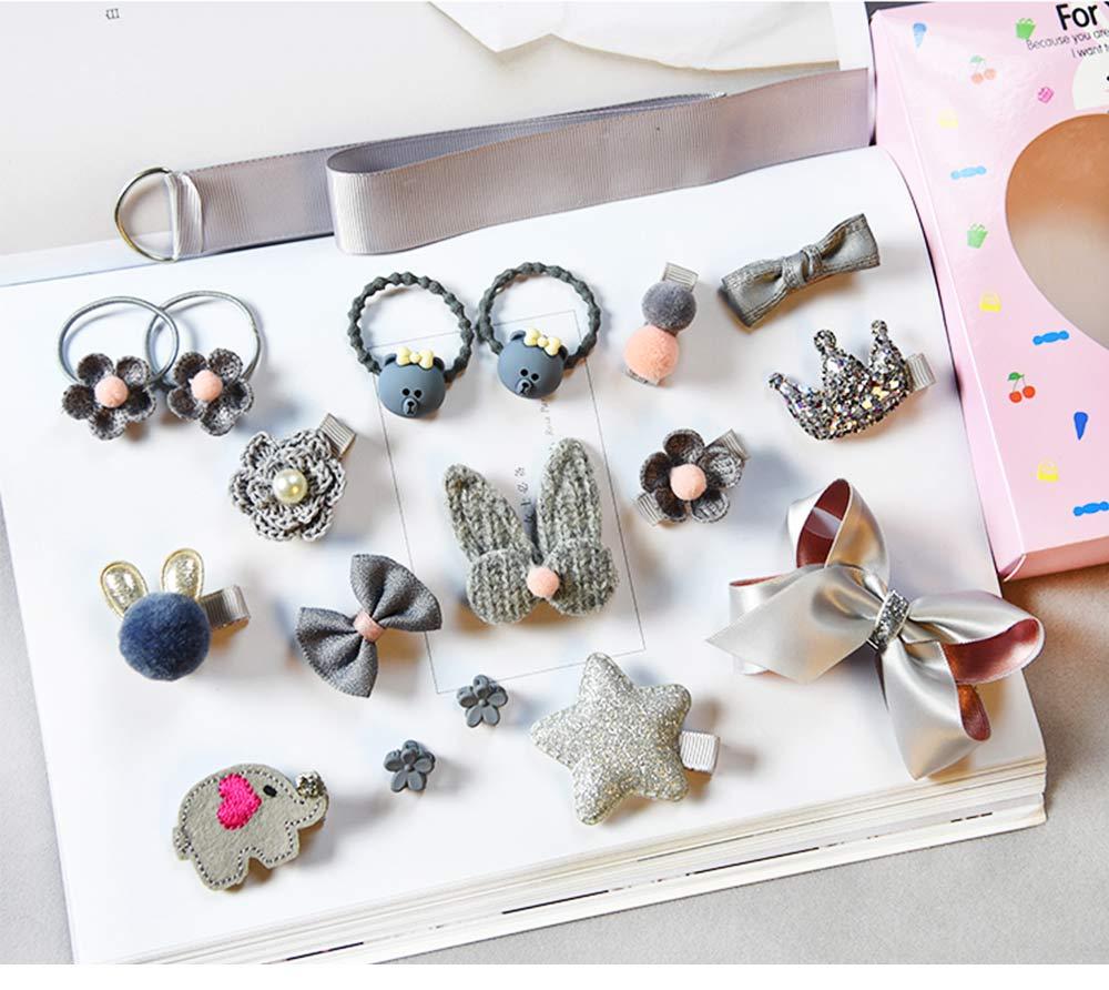 Cute Cartoon 18 PCS Hair Accessories, Hair Ornaments Barrette Birthday Gift Present Award For Girls 4