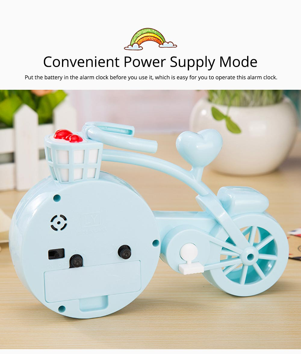 Creative Table Bike Model Alarm Clock, Stylish Minimalist Bicycle Clock 4