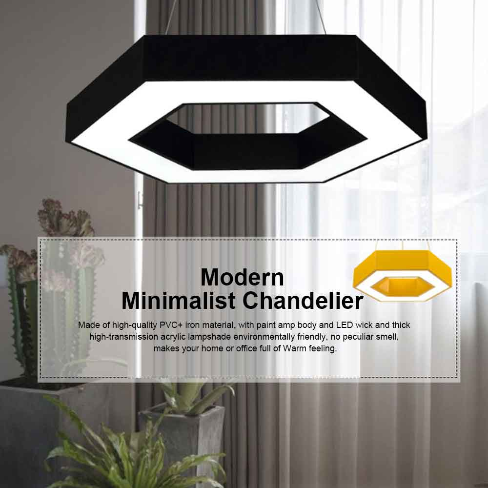 LED Modern Minimalist Chandelier for Company Office, Creative Polygon Combination Art Light 0