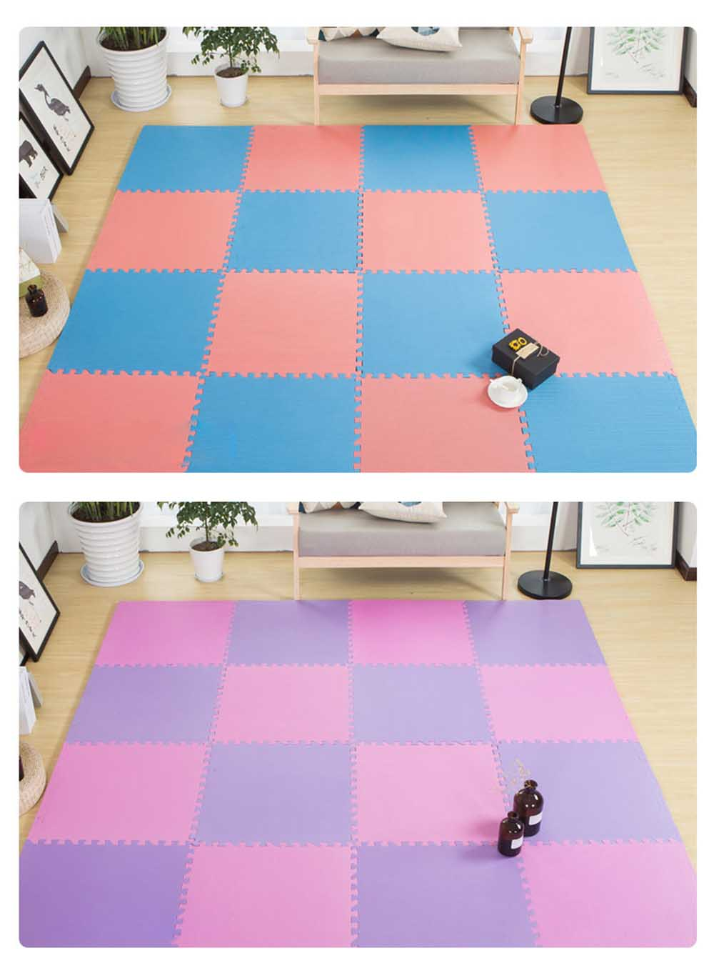 Baby Play Foam Mat, Nontoxic Puzzle Foam Pad, Baby Crawls Cushion 7