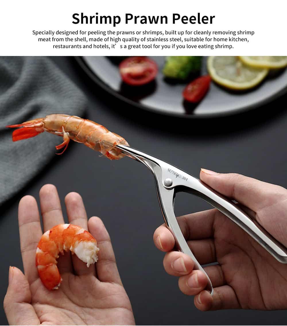 Professional Shrimp Peeling Tool, Stainless Steel Shrimp Peeler Knife 0