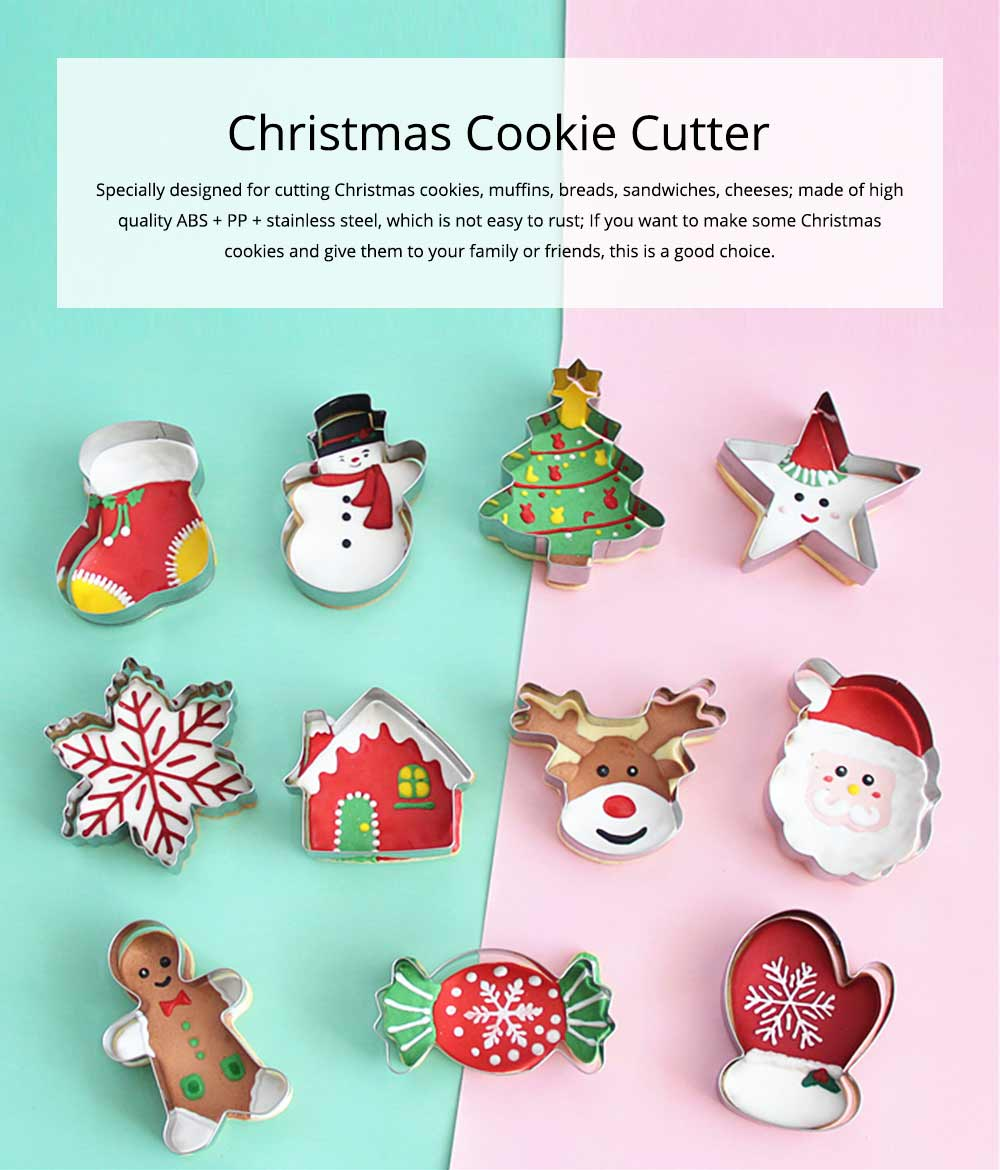Mini Christmas Cookie Cutter Set, Stainless Steel Biscuit Mold Set 0