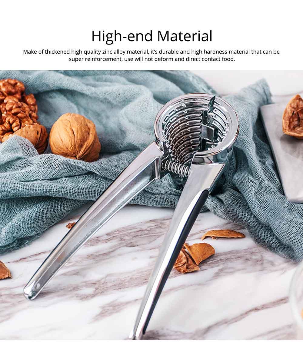 Splash Proof Nut Cracker for Various Nuts, Multifunctional Walnut Clip with V-shape Funnel Design 2