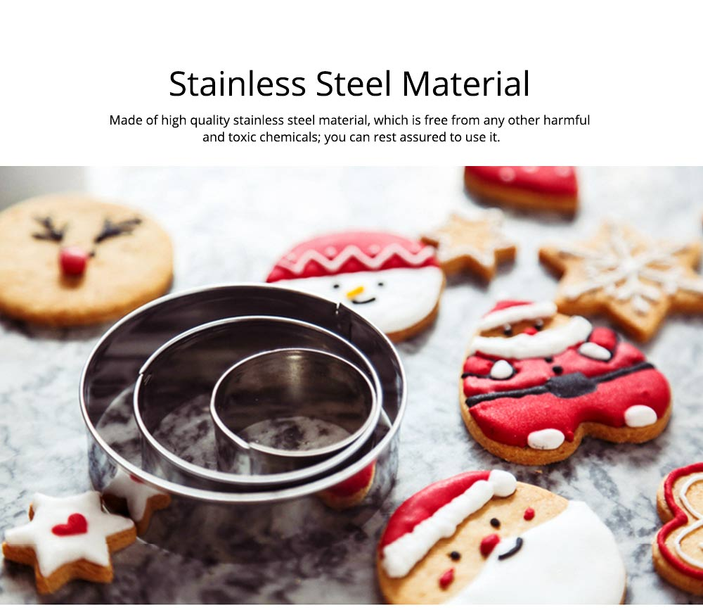 DIY Baking Mould Cookie Cutters 12PCS/Set,  Stainless Steel Round Hexagon Flower Shape Molds 1