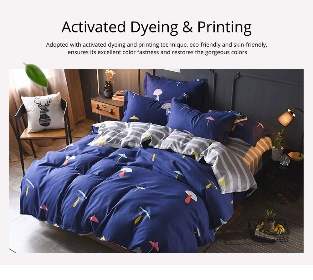 Simple Style Quilt Cover Sheet Pillowcase Bedding Set 4 Pieces 2
