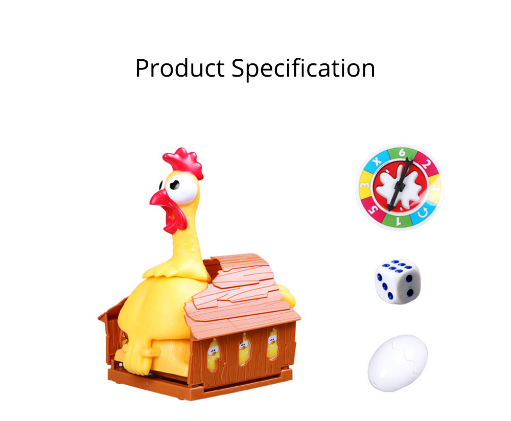 Funny Screaming Egg Laying Chicken Party Games Toy, Parent-child Puzzle Lucky Chicken Sound Toy 8