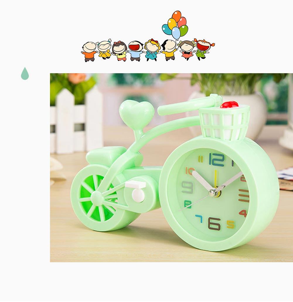Creative Table Bike Model Alarm Clock, Stylish Minimalist Bicycle Clock 7