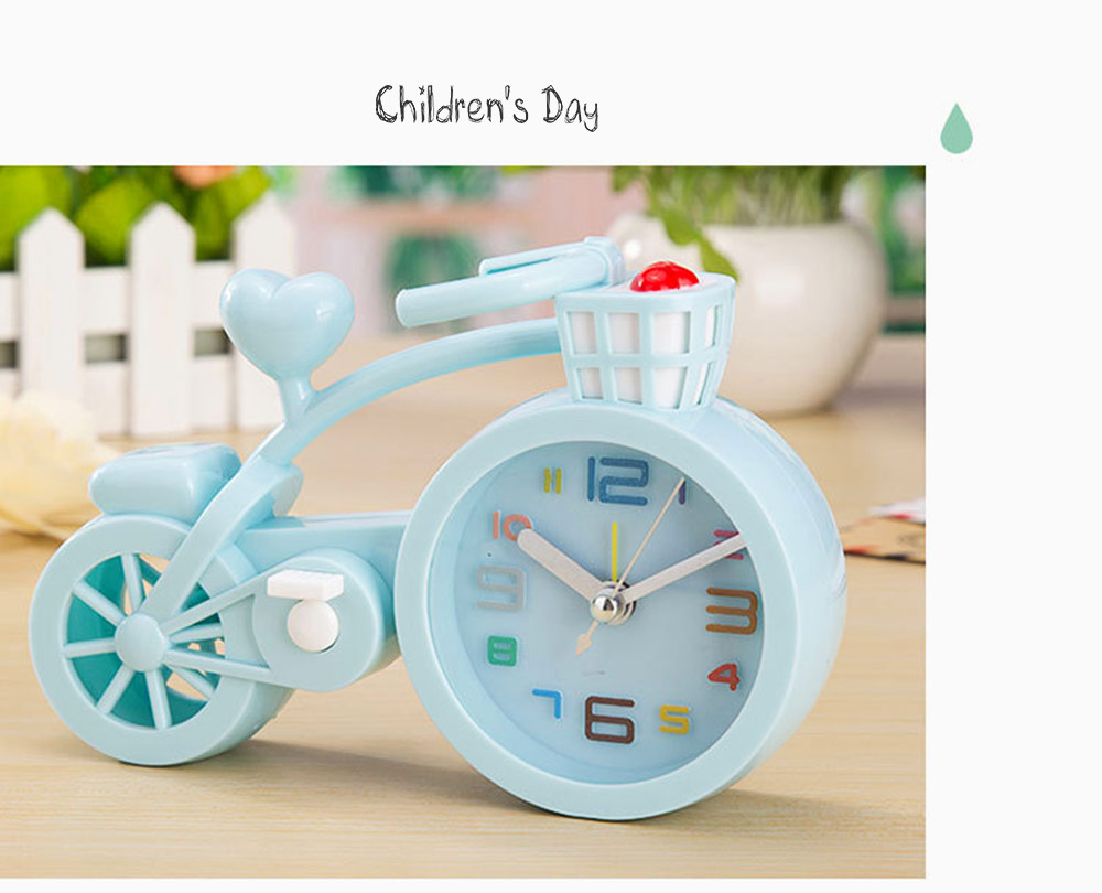 Creative Table Bike Model Alarm Clock, Stylish Minimalist Bicycle Clock 6