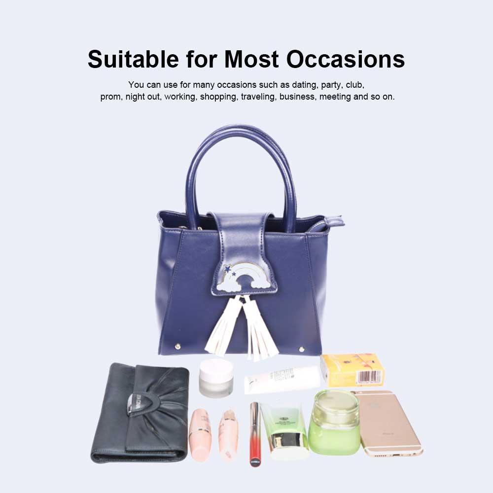 Fashion Female shoulder Bag, Dream Rainbow Decorative Handbag with Adjustable Hand Strap and Metal Zipper 5
