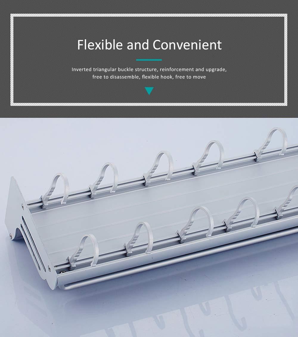 Aluminum Kitchen Rack, Widened Thickened Kitchen Knife Rack Seasoning Storage Hardware Wall Pendant 5