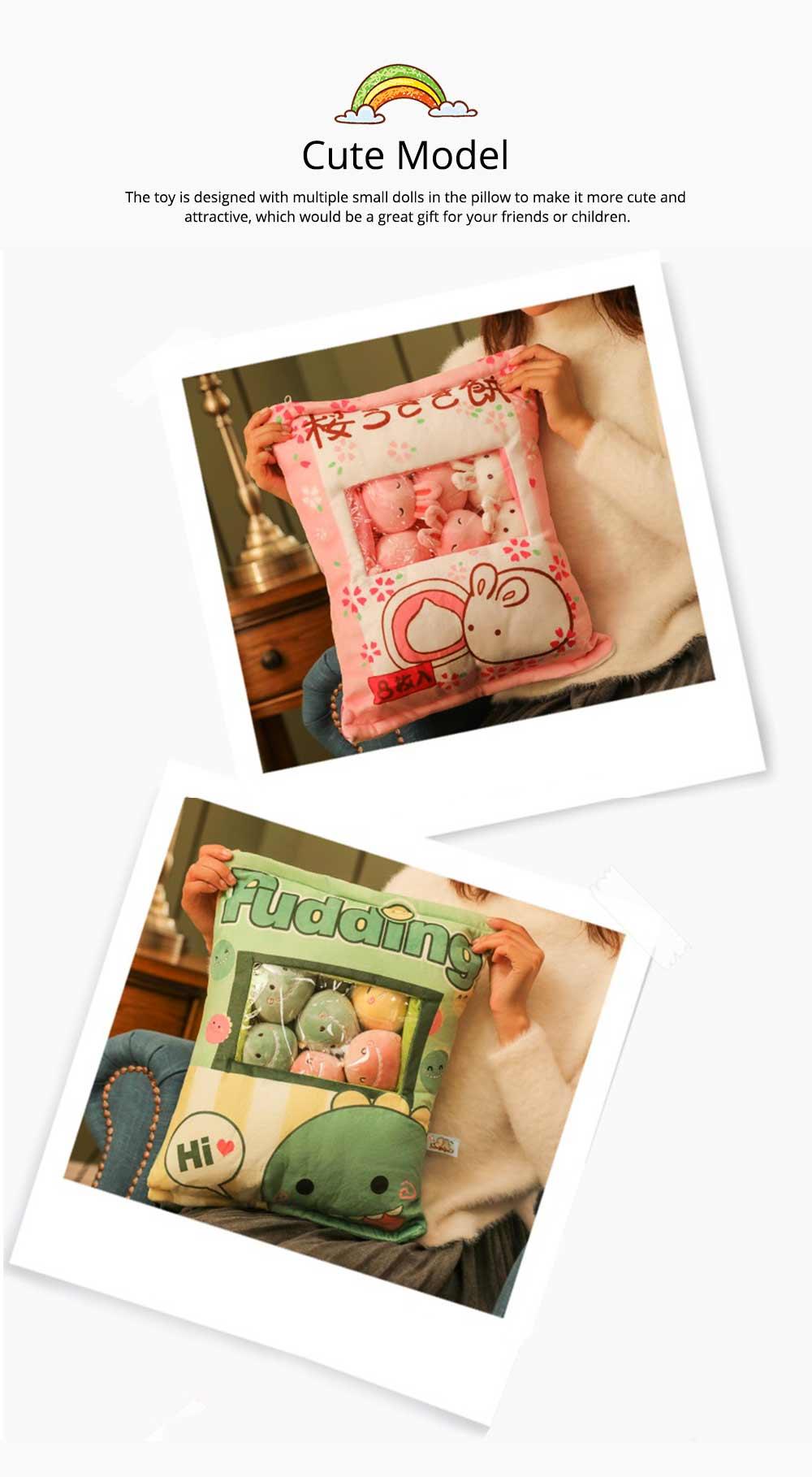 Cartoon Animal Marshmallow Balls Kids Comforting Stuffed Toy Gift Plush Pendant Soft Toys Keychain Doll, Kids Christmas Gift, Tree Decor 19