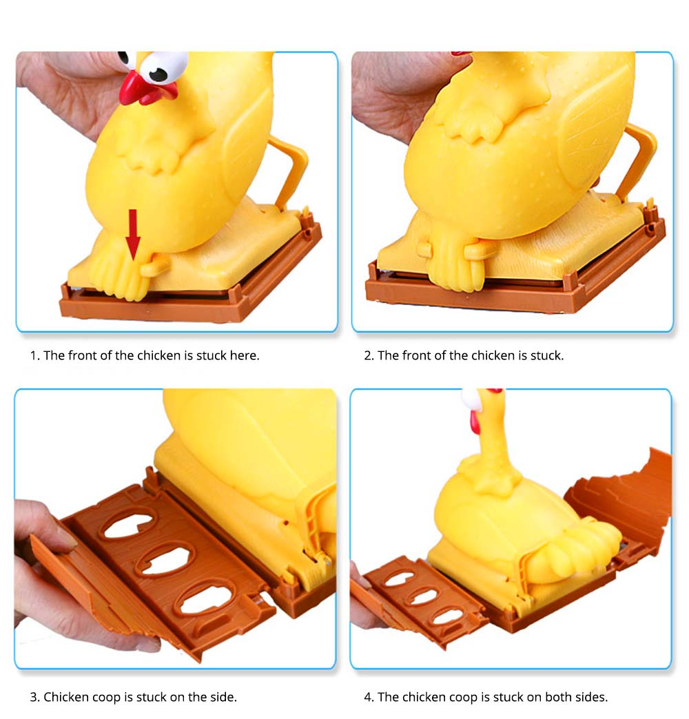 Funny Screaming Egg Laying Chicken Party Games Toy, Parent-child Puzzle Lucky Chicken Sound Toy 12