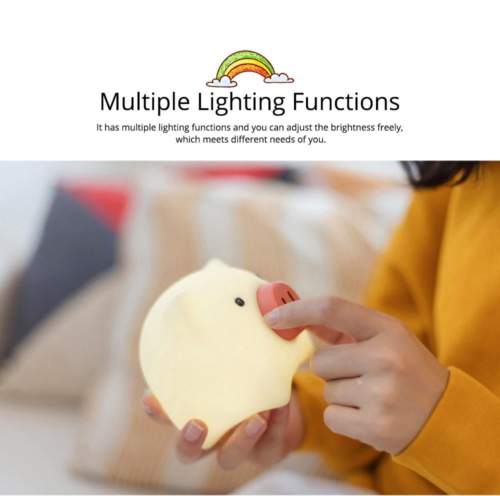 Pig Night Light, Ultrasoft Skin-friendly Silicone Piggy Light Present For Girls or Child 3