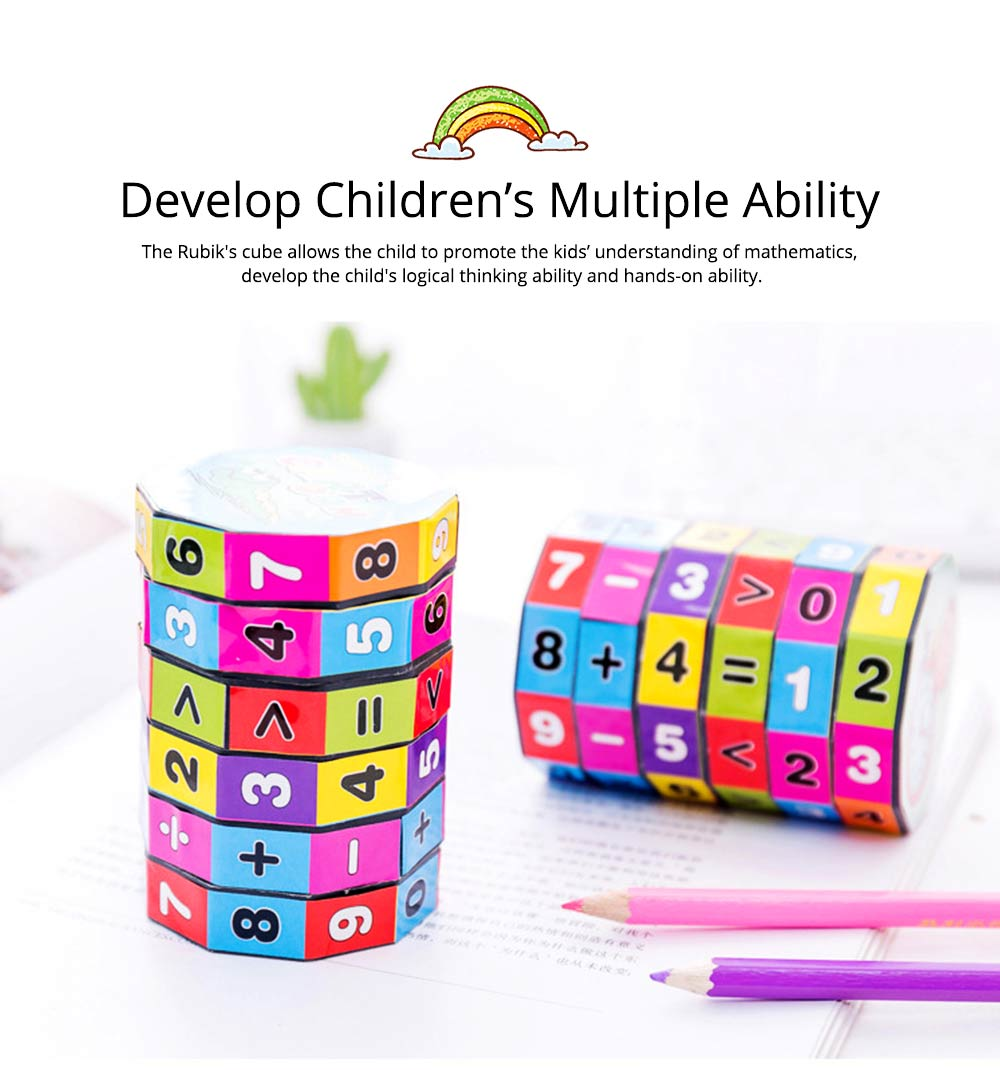 6 Layers Number Mathematical Children Puzzle Magic Cube, Creative Arithmetic Calculation Early Education Toy For Kids 3