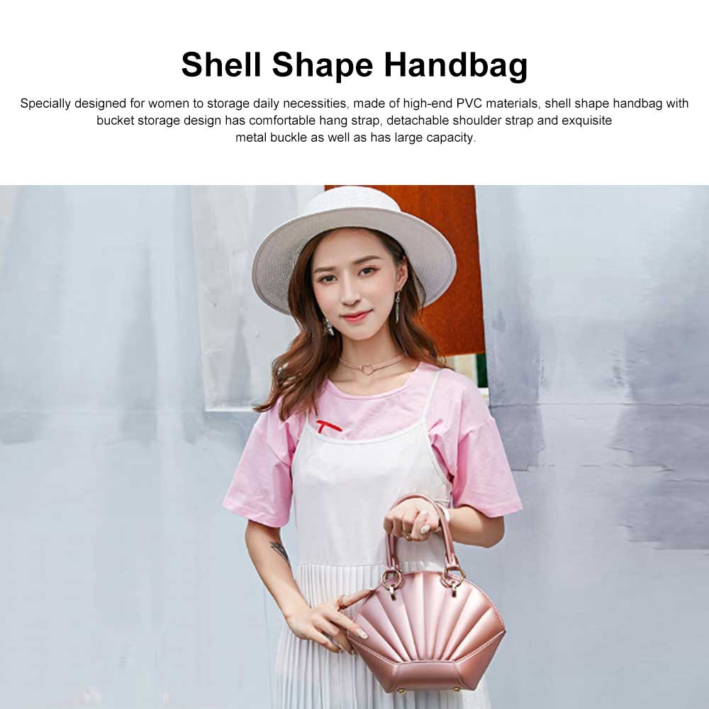 Shell Shaped Jelly Middle Bag, One Shoulder Slanting Matte Zipper Handbag For Ladies 0