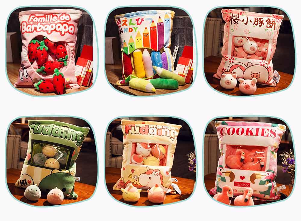 Cartoon Animal Marshmallow Balls Kids Comforting Stuffed Toy Gift Plush Pendant Soft Toys Keychain Doll, Kids Christmas Gift, Tree Decor 22